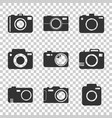 camera icon set on isolated background in flat vector image vector image