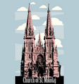 catholic church gothic architecture kiev ukraine vector image