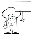 Chef Hat Guy Holding A Blank Sign