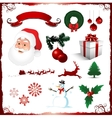 christmas elements isolated on white vector image vector image