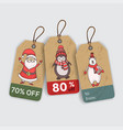Christmas gift tags with hand drawing elements