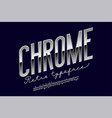 chrome metal alphabet vector image