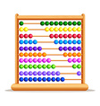 Colorful abacus with wooden frame vector image vector image