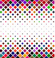 Colorful square pattern border background design vector image vector image