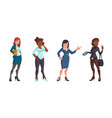 confident business women in office clothes vector image vector image