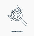 dna research outline icon isolated molecule dna vector image vector image