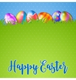 Easter background and egg in grass vector image