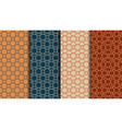 ethnic seamless patterns set geometric color vector image vector image
