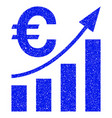 euro bar chart trend grunge icon vector image vector image