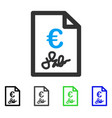 euro invoice flat icon vector image