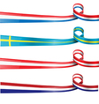 european flag ribbon flag set vector image vector image