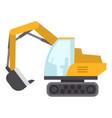excavator icon flat style vector image vector image