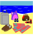 family vacation or summer holiday journey vector image