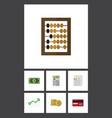 flat icon gain set of calculate growth payment vector image vector image