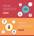 flat icons blow-dryer bristle elbow chair and vector image vector image