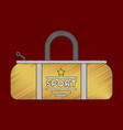 flat shading style icon sports bag vector image