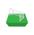 Football goal cartoon icon vector image vector image
