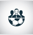 football team icon for web and ui on white vector image vector image