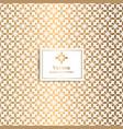 golden geometric pattern minimal pattern vector image vector image
