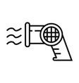 hair dryer icon single isolated with outline line vector image