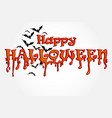 halloween horror party background vector image vector image