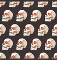 halloween seamless pattern with skulls vector image