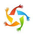 Hand Stars Logo vector image vector image