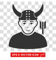 Horned Warrior EPS Icon vector image vector image