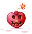 horror fear halloween heart vector image