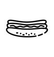 hotdog food icon design sign vector image