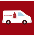 human blood donor fast transportation healthcare vector image
