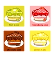 icons set with colorful sweet cakes vector image