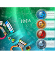 infographic layout template with 4 choices vector image