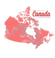 isolated canadian map vector image vector image