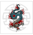 japanese dragon tattoo vector image vector image