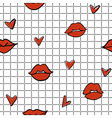 lips hearts 2 vector image vector image