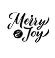 merry christmas calligraphy merry and joy vector image vector image
