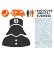 nurse icon with 1300 medical business icons vector image vector image