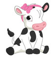 of cartoon baby calf vector image
