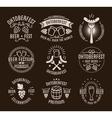 Oktoberfest beer festival lettering typography set vector image vector image