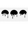 paint drip stickers or circle labels vector image vector image