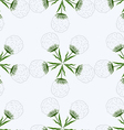 Pattern of dandelions vector image