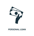personal loan icon line style icon design from vector image