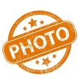 Photo grunge icon vector image vector image