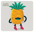 Pinapple Character Isolated vector image vector image