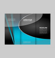 professional business three fold flyer template c vector image vector image