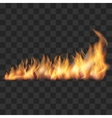 Realistic fire trail vector image
