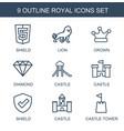 royal icons vector image vector image