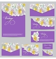 Set design for business cards envelopes postcards vector image