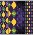 set geometric figures to mardi gras event vector image vector image